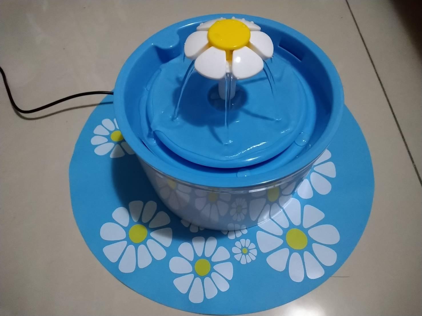 貓咪飲水機-花朵噴泉飲水機 啟動成功