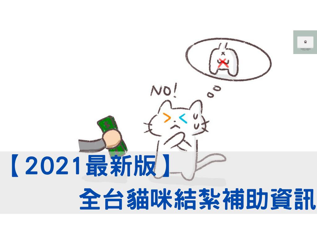 【2021最新版】全台結紮補助!貓咪絕育手術補助全資訊!